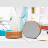 A60 Hout textuur Draadloze Bluetooth Speaker - Mini Subwoofer Grijs_