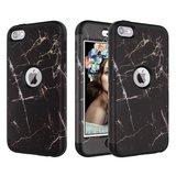 Armor Hoesje Anti-dust Marble iPod Touch 5 6 7 - Zwart marmer_
