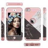 Armor Hoesje Marmer Hoesje iPod Touch 5 6 7 - Roze en wit_