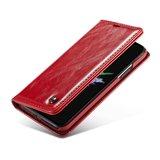 Caseme Kunstleer Wallet pasjeshouder hoesje iPhone XS Max case - rood_