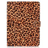 Panterprint iPad Pro 11-inch 2018 Case Hoes Lederen Wallet Portemonnee - Bruin Luipaard Patroon_
