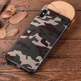 Camouflage TPU camo hoesje leger iPhone XS Max - Army Groen_