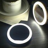 Selfie licht ringvormige lamp smartphone dimbaar - Zwart_