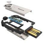 Baseus BA01 Draadloze Bluetooth Muziek Dongle Adapter USB - Zwart Handsfree bellen_