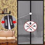 Magnetisch sluitbare Vliegengordijn Horgordijn tegen muggen en vliegen Deurhor - Zwart 100x210cm_