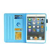 Ananas pineapple flipcase leder klaphoes iPad mini 1 2 3 4 5 - Lichtroze Wit_