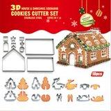 Koekjeshuis 18-delige uitsteekvormenset - Kerst Sinterklaas Schoencadeau_