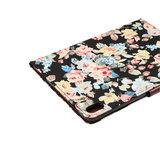 iPad Pro 11 inch 2018 Hoes Hardcase Bloemen Fabric Kleurrijk - Zwart_
