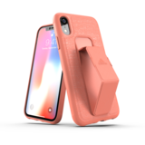 adidas grip case standaard valbestendig TPU hoesje iPhone XR - Koraal Roze_