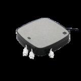 X-Moove Oplaadstation 3x USB-A 1x USB-C poort 10W Qi Draadloze Oplaadpad - Grijs_