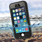 Waterdicht Hoesje iPhone 5 5s SE 2016 Waterproof hardcase - IP68 - Zwart_