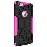Shockproof bescherming hoesje iPhone 6 6s case - Roze_