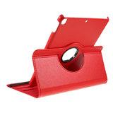 Litchi Textuur Lederen iPad 10.2 inch case met cover - Rood Bescherming Standaard_