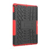 Bandprofiel hoes grip kickstand TPU kunststof iPad 10.2 inch - Rood_