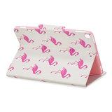 Wallet Portemonnee Hoes Case Kunstleer Natuur Vogel Flamingo voor iPad 10.2 - Roze_