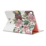 Wallet Portemonnee Hoes Case Kunstleer Bloemen Natuur voor iPad Pro 10.5 inch iPad Air 3 10.5 inch iPad 10.2 inch - Roze_
