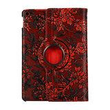 Druiven Design 360 Graden Rotatie Standaard Hoes Case Kunstleer voor iPad 10.2 inch - Rood_