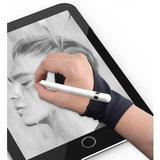 Anti-touch handschoen sleeve Apple Pencil Samsung Stylus - Zwart Rechterhand_