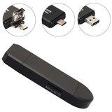 USB-C USB Micro USB Kaartlezer MicroSD - Zwart_