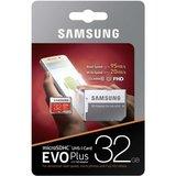Samsung MicroSDHC Kaart 32GB Class 10 EVO+ met adapter R95MB/s - W20MB/s_