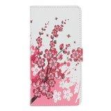 Wallet kunstleer bloemen hoesje voor iPhone 12 en iPhone 12 Pro - wit_