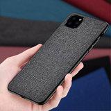 Cloth Texture stof en kunststof hoesje voor iPhone 12 en iPhone 12 Pro - grijs_