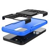 Shockproof schokabsorberend TPU hoesje voor iPhone 12 en iPhone 12 Pro - zwart met blauw_
