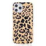 TPU luipaardenprint hoesje voor iPhone 12 en iPhone 12 Pro - beige_