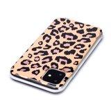 Luipaardprint TPU hoesje voor iPhone 12 en iPhone 12 Pro - beige_