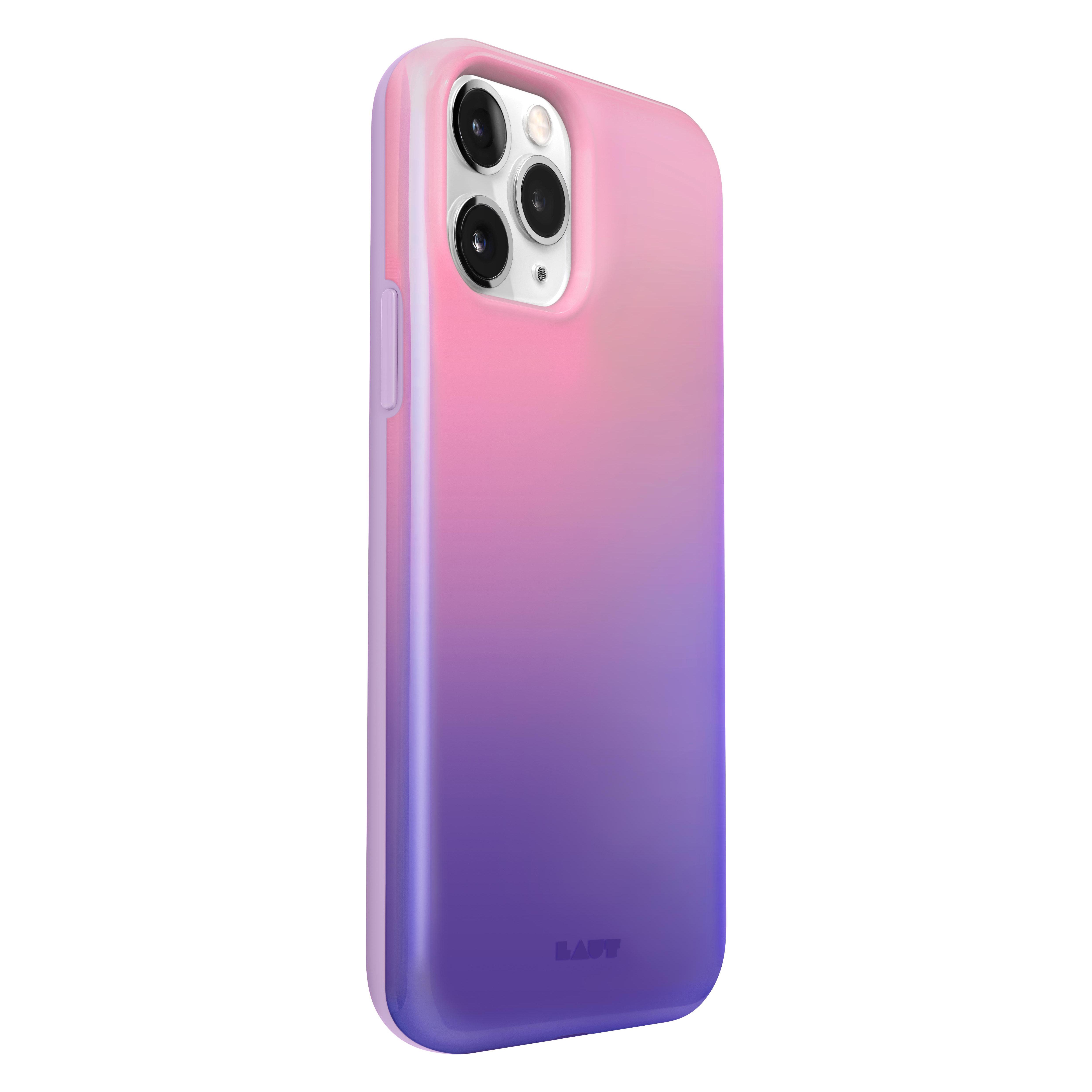 LAUT Huex kunststof hoesje voor iPhone 12 en iPhone 12 Pro - roze en paars_