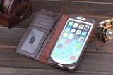 Bookcase hoesje iPhone 6 Plus 6s Plus Wallet Boek lederen bruin_