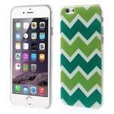 Groen TPU hoesje iPhone 6 6s Zigzag strepen Wit Groen _