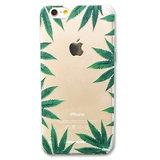 Doorzichtige wiet hardcase iPhone 6 Plus / 6s Plus Marihuana design Wietbladen cover_