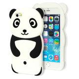 Rilakkuma Panda hoesje 3D iPhone 6 6s silicone case Zwart wit _