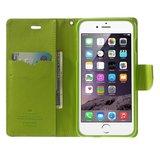 Mercury Goospery blauwe wallet Bookcase iPhone 6 Plus 6s Plus Donkerblauw lederen portemonnee hoesje_