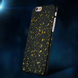 Zwart Verfspatten hoesje iPhone 6 6s oranje sterrenhemel case Hardcase_
