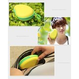 Opbergbox voor oortjes Mango vorm Beschermdoosje oordopjes Geel groen_