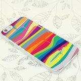 Fel gekleurde hardcase iPhone 6 6s Hoesje met Regenboog kleuren Verfdesign_