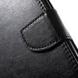 Wallet zwart Bookcase hoesje iPhone 7 Plus 8 Plus Portemonnee Lederen cover_