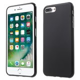 Zwart silicone hoesje iPhone 7 Plus 8 Plus Black cover Effen gekleurd_