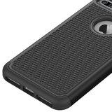Zeer stevig tweedelig hoesje iPhone 7 Plus 8 Plus Zwarte nopjes Silicone Hard case_