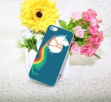 Eenhoorn hoesje Hard case iPhone 6 Plus 6s Plus Unicorn cover Regenboog_