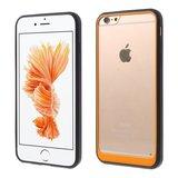 Hybrid Shockproof hoesje iPhone 6 6s Zwart Oranje Doorzichtig_