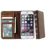 Lederen boek Bookcase hoesje Boek iPhone 6 Plus 6s Plus bruin kunstleer_
