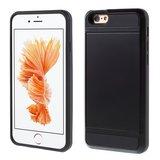 Secret Pasjeshouder hoesje iPhone 6 Plus 6s Plus hardcase - Portemonnee - Wallet - Zwart_
