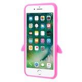 Roze pinguin 3D hoesje iPhone 7 Plus 8 Plus_