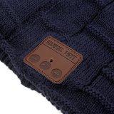 Bluetooth muziekmuts knitted blauw music hat_