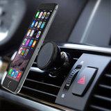 Universele Magneet telefoon auto houder ventilatierooster - iPhone - Samsung - Zwart_
