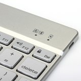 Witspad Bluetooth keyboard cover toetsenbord hoes case backlight iPad Air 2 - silver - QWERTY_
