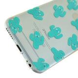Blije cactus doorzichtig TPU hoes iPhone 6 6s cover_